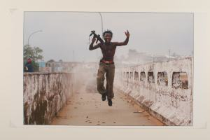 Archival pigment print by Chris Hondros, July 2003, Monrovia, Liberia Gift of Getty Images, Gregg Museum of Art & Design permanent collection 2005.036.006 Image copyright or Getty Images