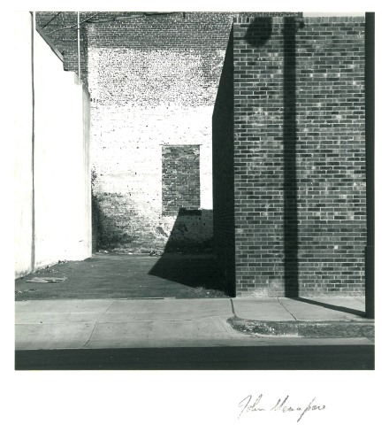 black and white photograph of a building, c.1975 John Menapace From the estate of the Artist 2012.044.03177
